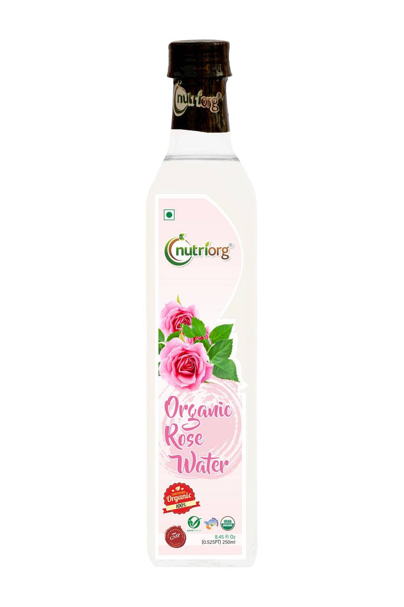 Nutriorg Certified Organic Rose Water 250 ml