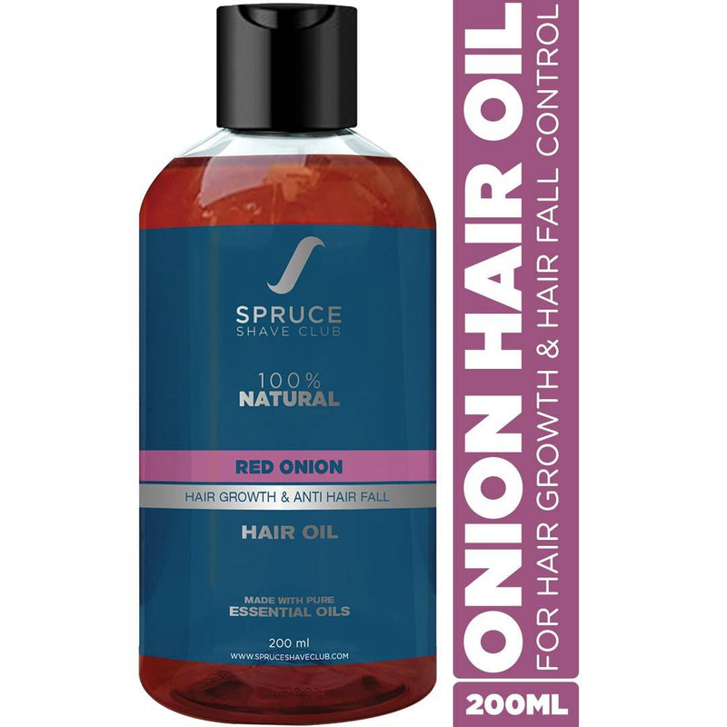 Spruce Shave Club Red Onion Hair Oil For Hair Growth & Hair Fall Control | 100% Natural | No Mineral Oils