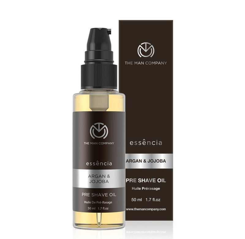 The Man Company Pre Shave Oil for moisturizing, healing and conditioning - Argan & Jojoba (50 ml)