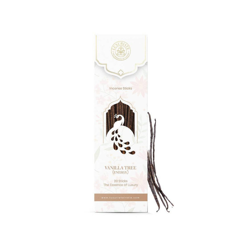 LUXURIATE Vanilla Fragrance Natural and Non-Toxic Incense Sticks-Great for Yoga, Meditation, Prayer, Home Fragrance, and as Air Purifier,(Contains 20 Incense Sticks/Natural Agarbatti)