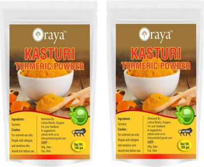 Oraya Kasturi Turmeric ( Haldi) Powder for Face, Hair (200 g)