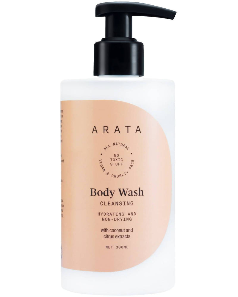 Arata Natural Hydrating & Non-Drying Body Wash With Coconut & Citrus Extracts | All-Natural, Vegan & Cruelty-Free | Gentle Daily Cleansing For Men & Women - (300 ML) - Trell Shop