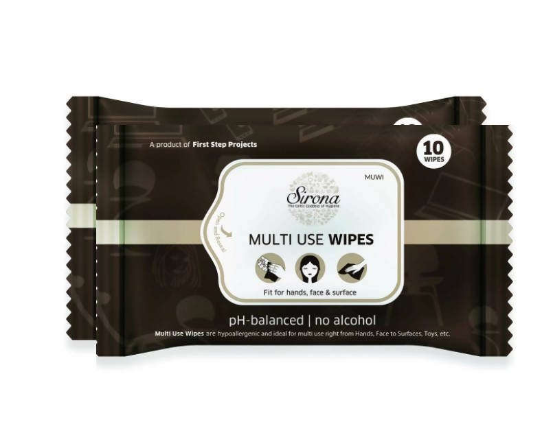 Sirona Multi Use Wet Wipes - 20 Wipes (2 Pack - 10 Wipes Each)
