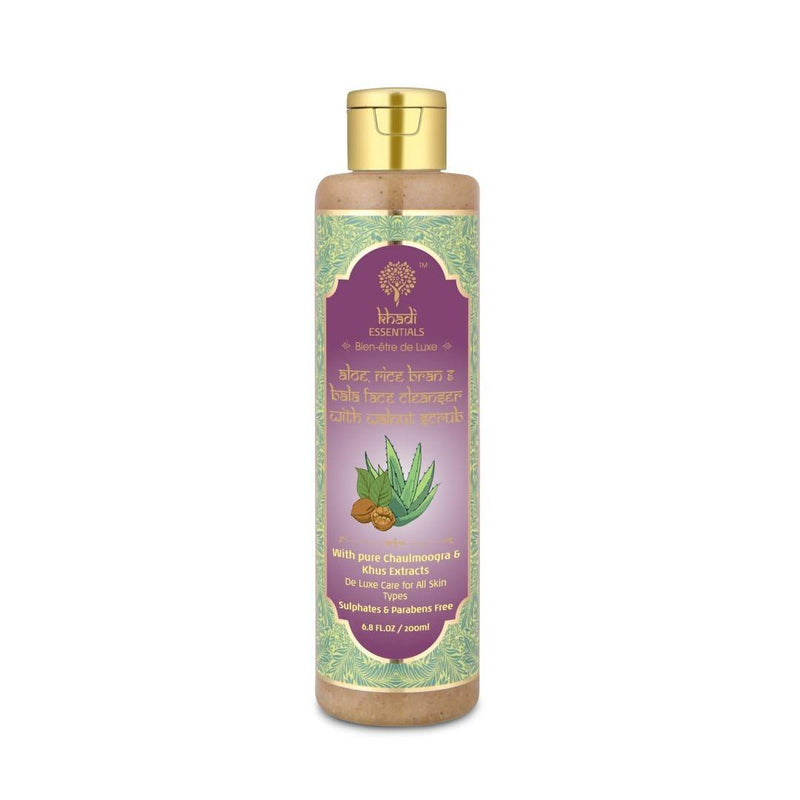 Khadi Essential - Rice Bran Face Cleanser with Walnut Scrub