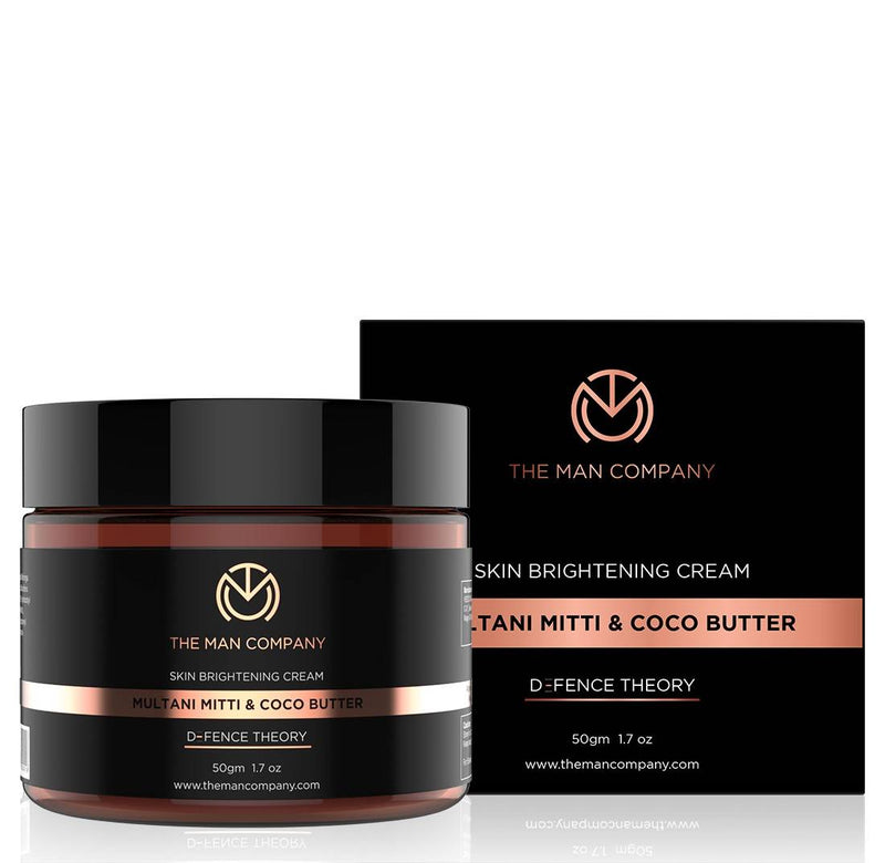 The Man Company Skin Brightening Cream Multani Mitti and Coco Butter, 50 g