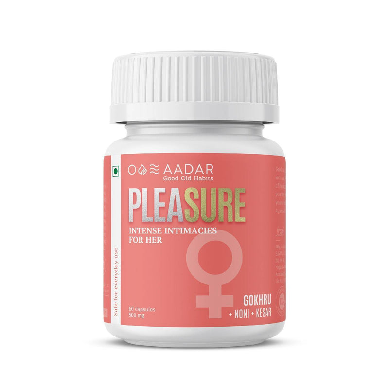 AADAR Pleasure | Ayurvedic Vitalizer for Women | Increases the Urge, Enhances the Pleasure | 60 Capsules - Trell Shop