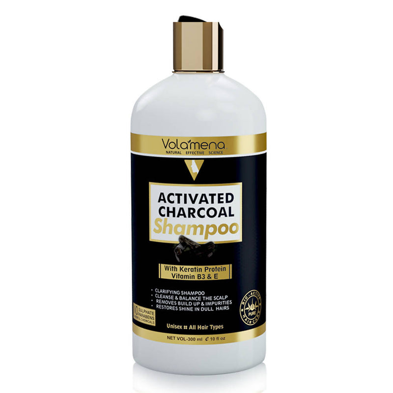 Volamena Activated Charcoal & Keratin Shampoo 300 ml