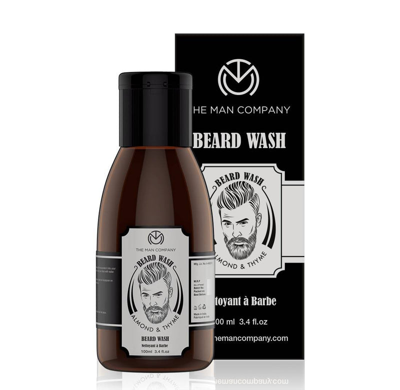 The Man Company Beard Wash for growth - Almond and Thyme (100 ml)