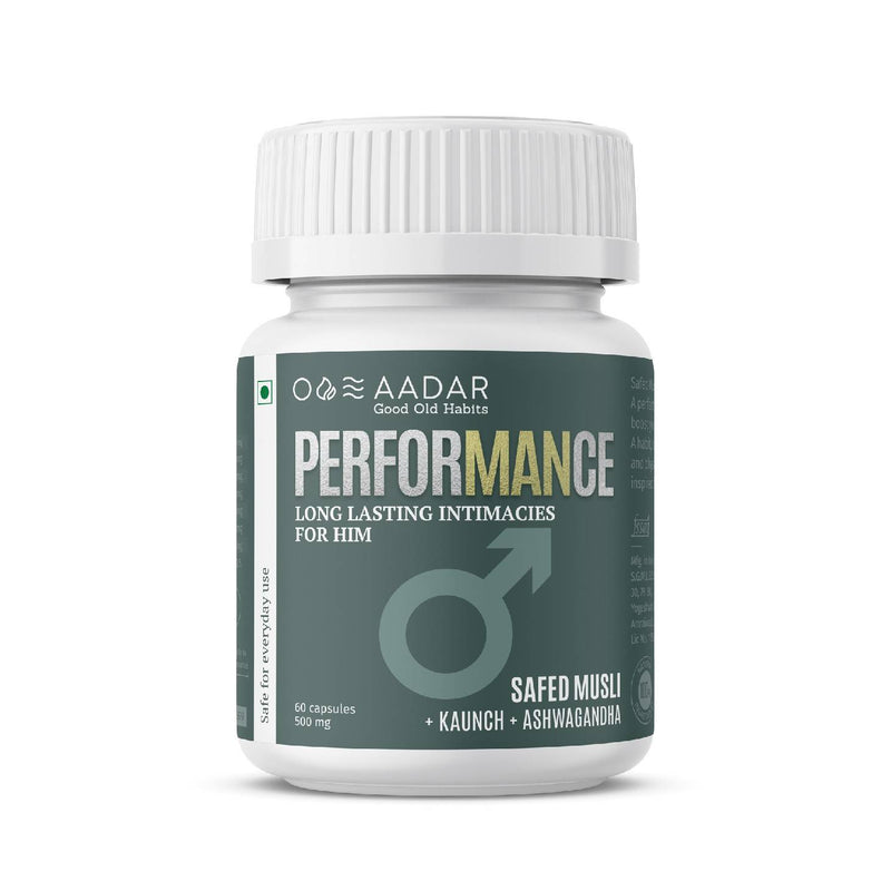 AADAR PerforMANce | Ayurvedic Stamina and Testosterone Booster for Men | Improves Strength, Makes you Last Long | 60 Capsules - Trell Shop