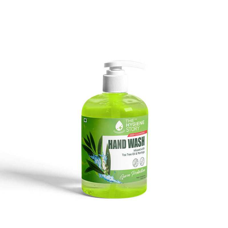 The Hygiene Story Hand Wash, with Moringa & Tea Tree Oil , Germ free protection , 500 ml