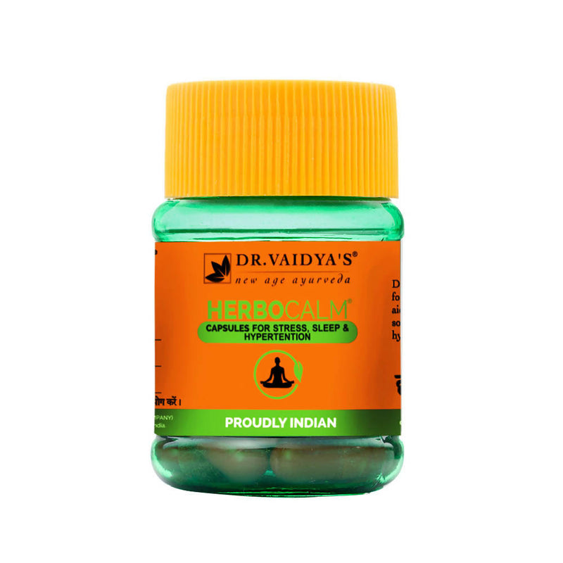 Dr. Vaidya's Herbocalm Capsules Ayurvedic Medicine for Stress and Anxiety - Pack of two