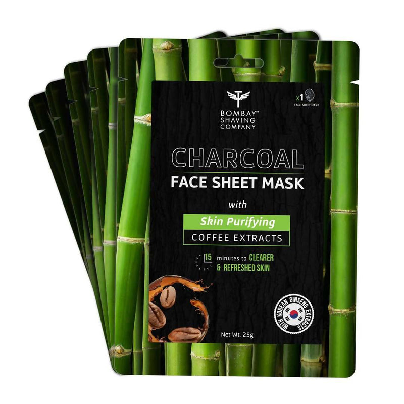 Bombay Shaving Company Charcoal Face Sheet Mask (Pack of 5)