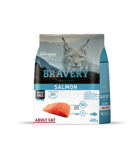 Bravery Grain Free Adult Cat Kibble Salmon 400g