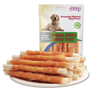 O Dog Chicken Jerky & Cowhide Sticks 100g