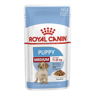 Royal Canin Medium Puppy Wet Food Pouch 140g