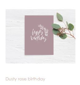 Dusty Rose Birthday