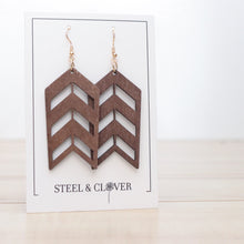 Load image into Gallery viewer, Arrow Wooden Earring, Brown