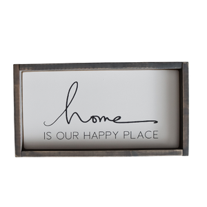 Wood Sign, Home is our Happy Place