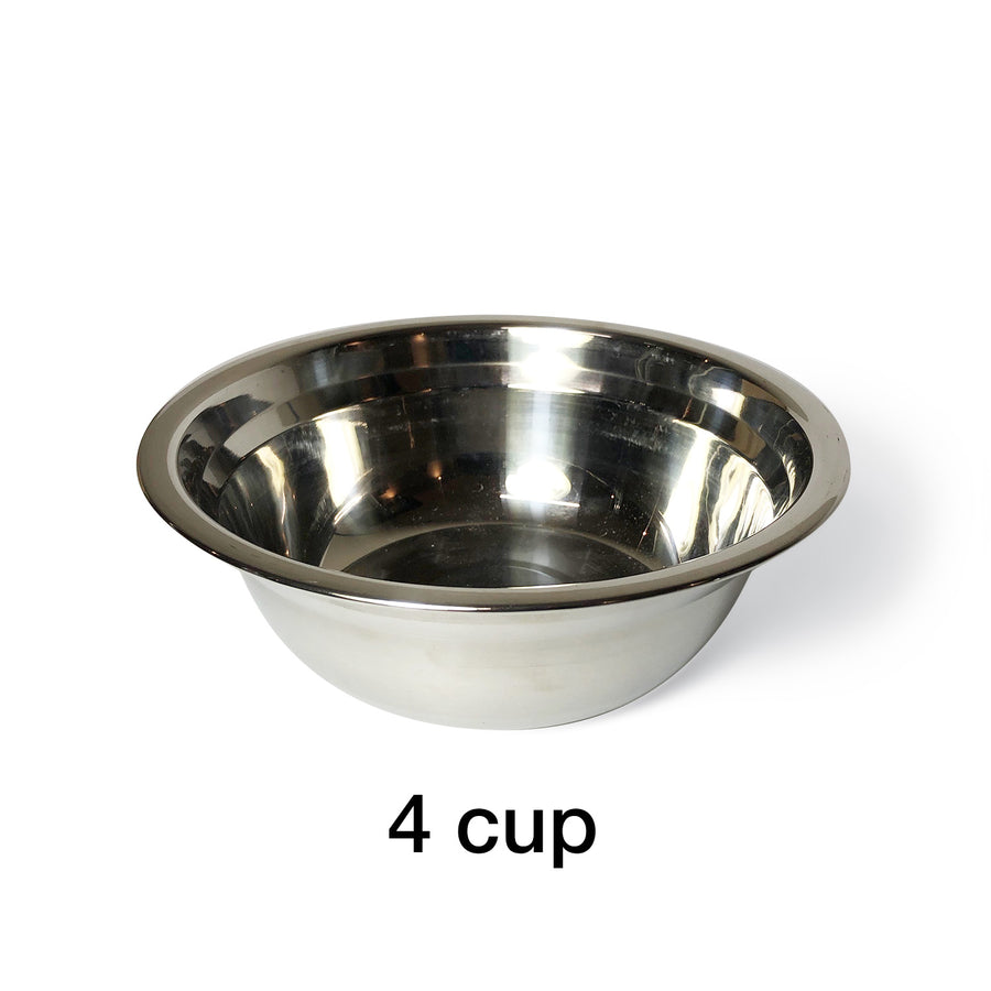 "3 Bowl L (7""H) - Navy Blue Top and Bottom"
