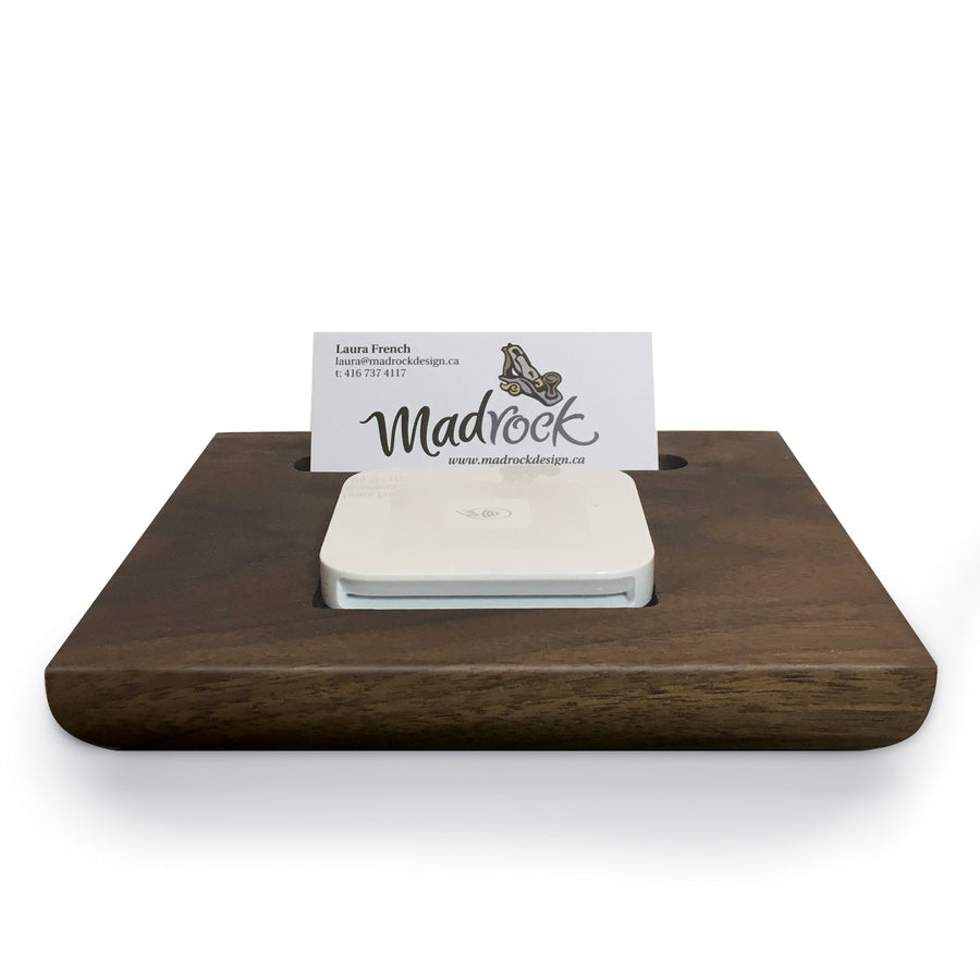 Madrock Design handmade square and business card holder.