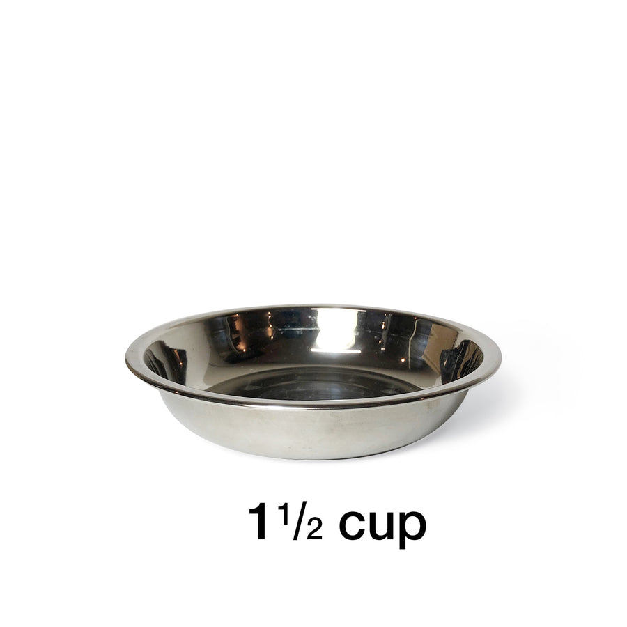 "2 Bowl M (5"" H) - Silver Top 