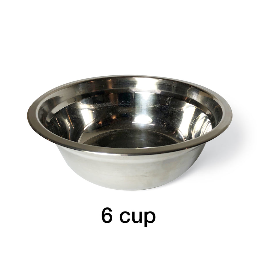 "1 Bowl M (5""H) - Silver Top 