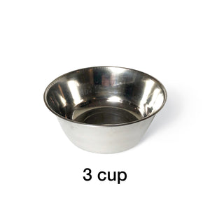 "3 Bowl S (3""H) - Silver Top 