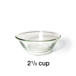 "2 Bowl L (7""H) - Silver Top 