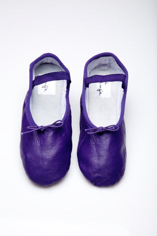 Dark Purple Ballet Flats