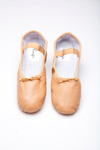 Caramel & Gold Ballet Flats for Women