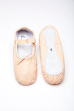 Leather Nude Ballet Flats