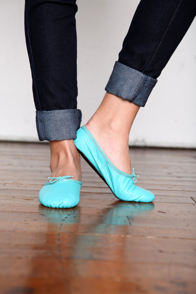Turquoise Ballet Flats