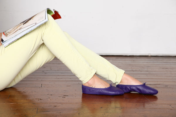 Foldable Purple Ballet Flats