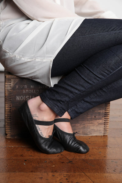 Black Ballet Flats for Women