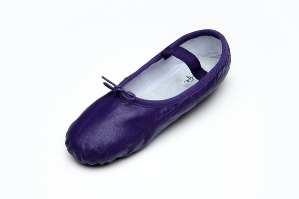 Purple Leather Ballet Flats