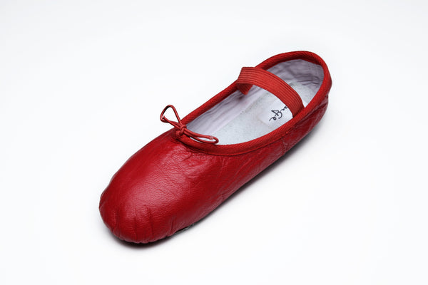 Leather Red Ballet Flats
