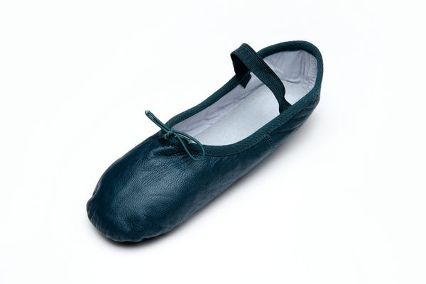 Leather Teal Ballet Flats