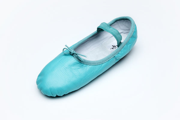 Leather Turqoise Ballet Flats