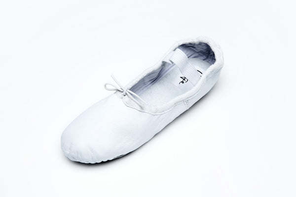 White Leather Ballet Flats