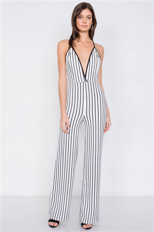 White & Black Jumpsuit