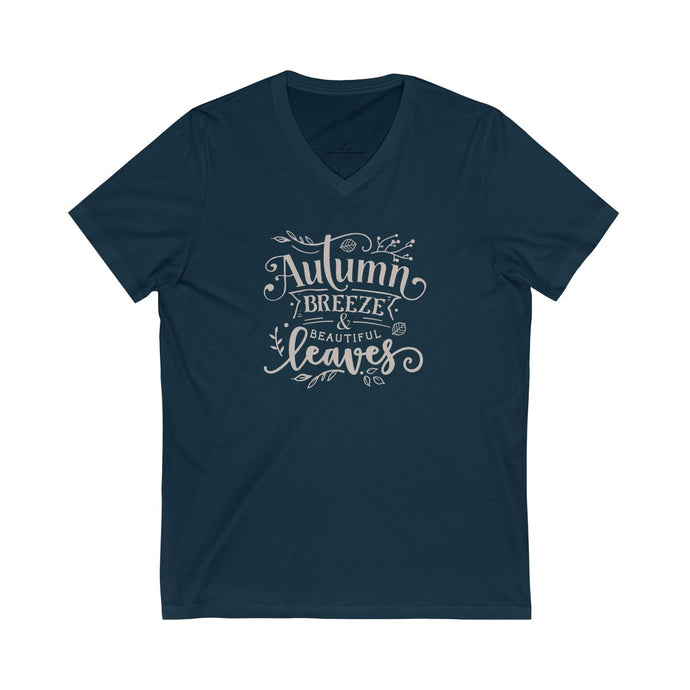 Autumn Breeze - Unisex Jersey V-Neck Tee