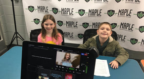 How Maple Elementary Live Streams Morning Announcements for FREE
