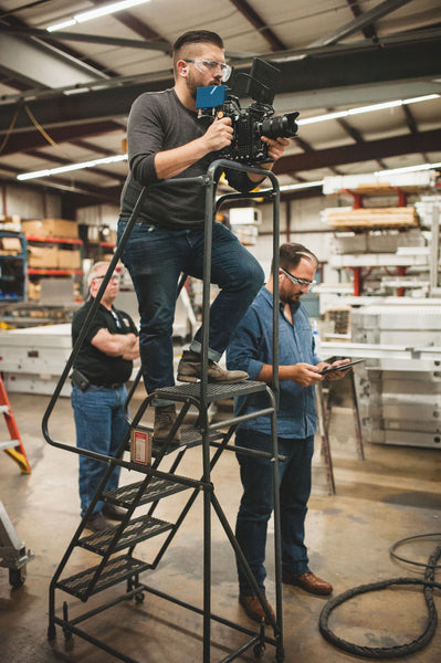 MAKE films on set with Char Co with RED Epic Dragon and Teradek Serv Pro