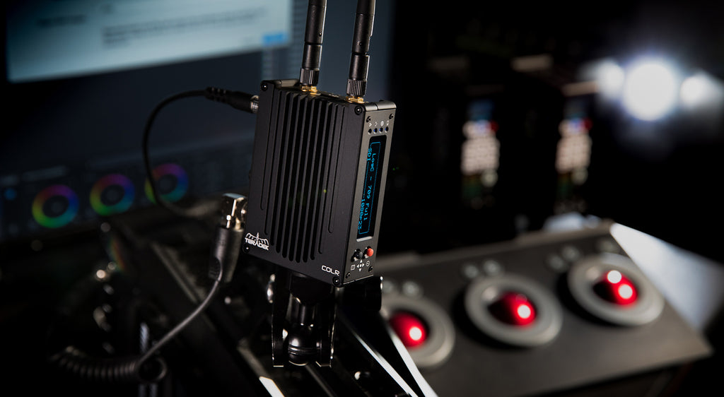 Teradek's COLR allows for storing 32 3D LUTs and real-time color grading