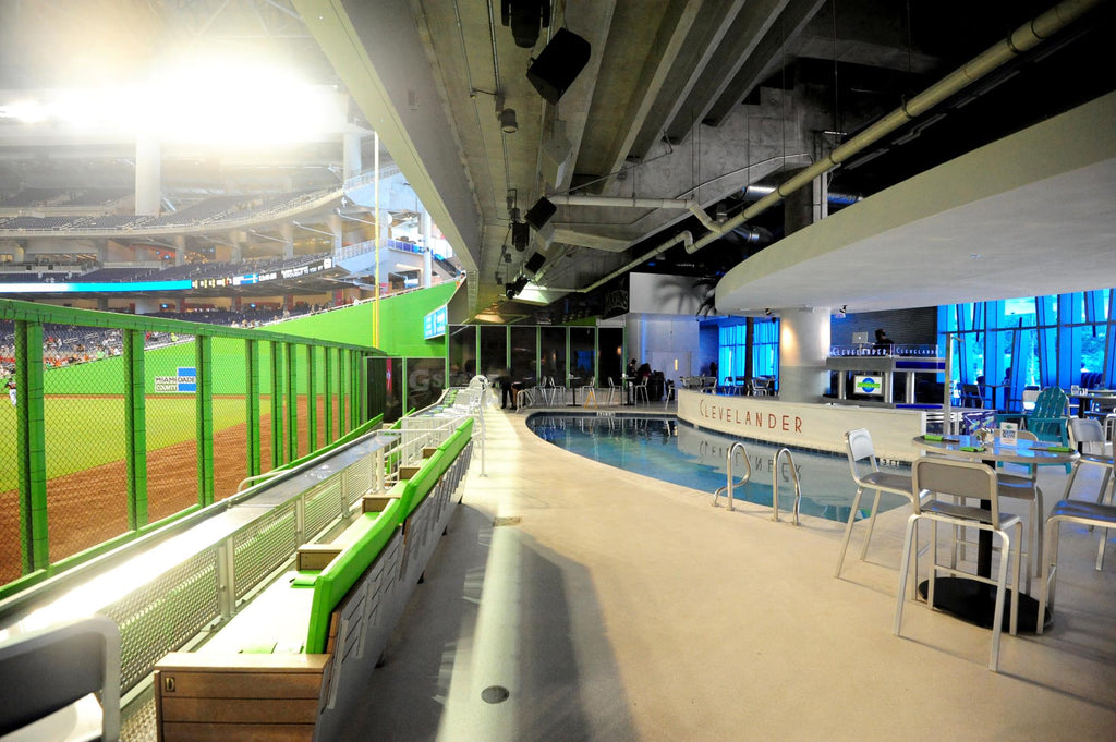 The famous Clevelander bar right outside Marlins Park left field where MLB All-Star Game bumpers were shot with Teradek