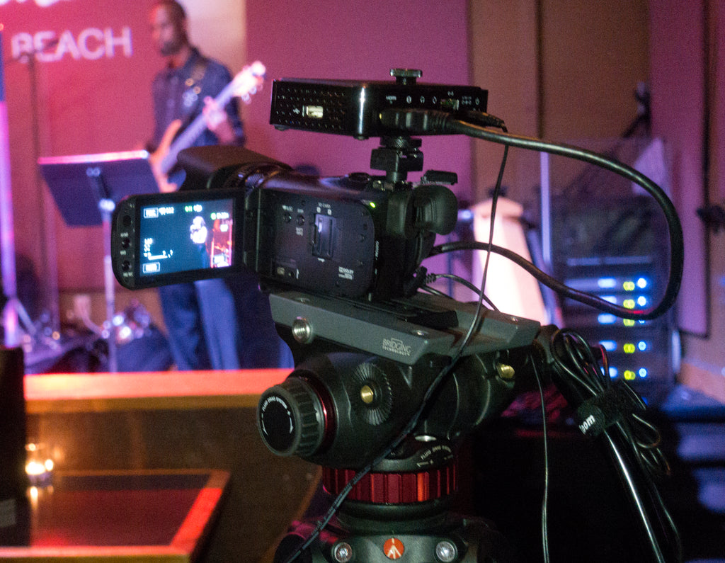 Teradek Live:Air Action live switching at jazz club complete workflow.