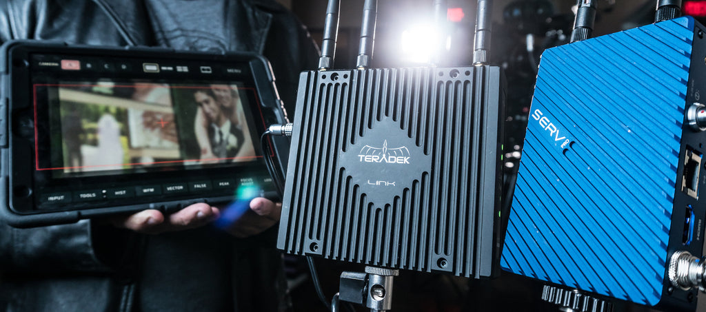 Teradek Link and Serv Pro WiFi access points and range extenders for film production