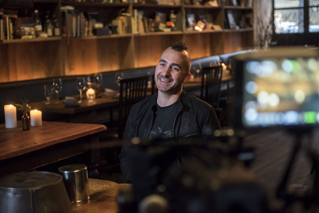 Novel Studios shoot in restaurant Marc Forgione for Maines Food Show