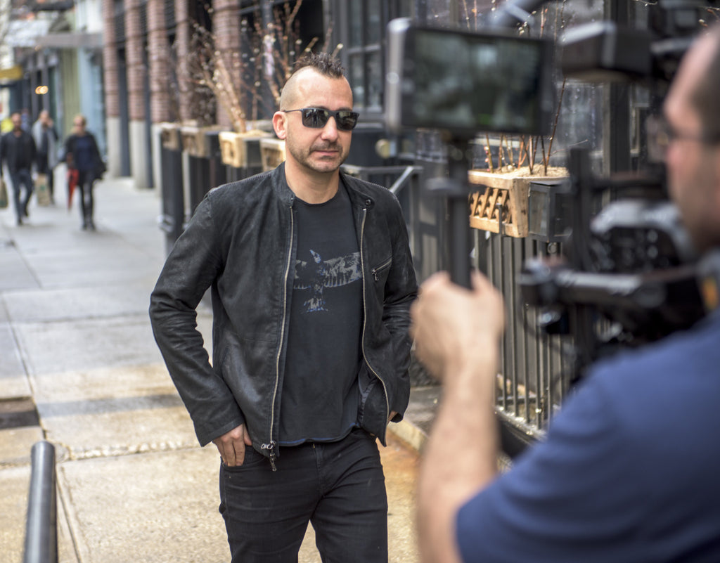 Iron Chef Marc Forgione on set with Novel Studios