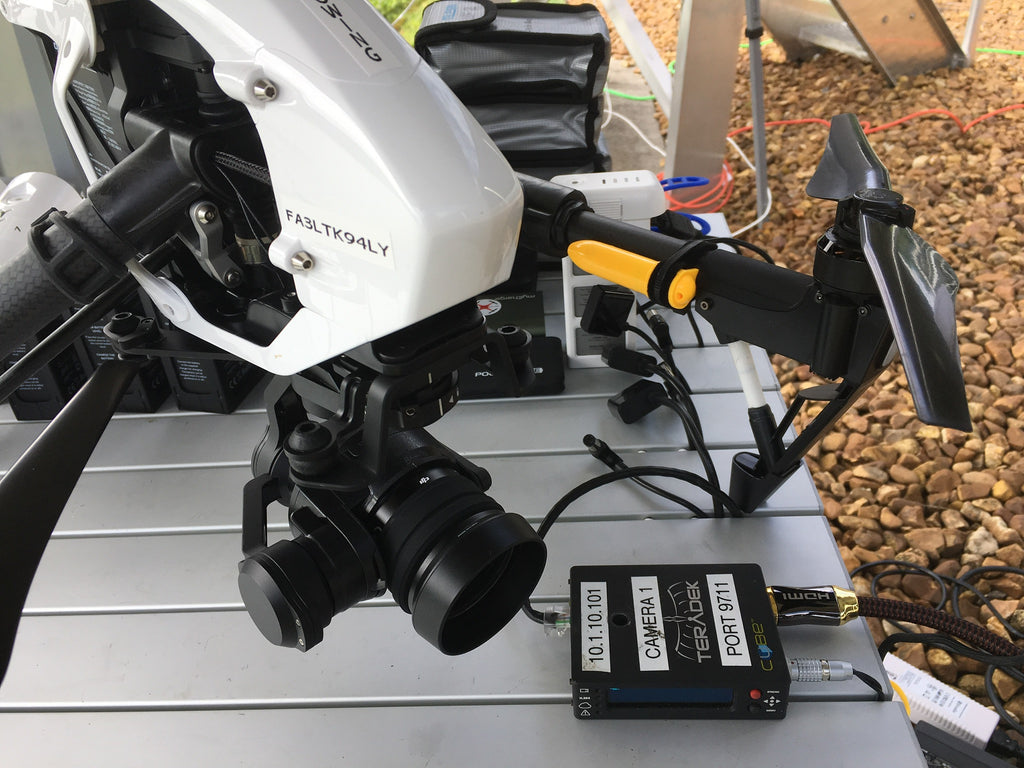 US Rowing Association's DJI Inspire 1 drone with Teradek Cube encoder